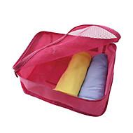 旅行かばんオーガナイザー 旅行用洗面道具バッグ 携帯用 速乾性 防塵 防湿 コンパクト 多機能の 多機能 小物収納用バッグ のために クロス ブラジャー ナイロン / 登山 レジャースポーツ キャンピング&ハイキング 旅行 安全 トラベル