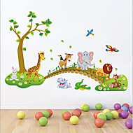 Animaux Bande dessinée Nature morte Stickers muraux Autocollants avion Autocollants muraux décoratifs,Vinyle Matériel AmovibleDécoration