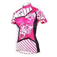 ILPALADINO 女性用 半袖 サイクリングジャージー - ローズピンク 花 / 植物 バイク ジャージー, 速乾性, 抗紫外線, 高通気性 ポリエステル