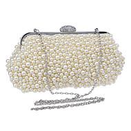 billiga Kvälls-handväska-ador® damväskor akrylaftväska imitation pärla geometrisk champagne / vit / beige / bröllopsäckar / bröllopsäckar