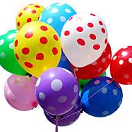 """12 """"50st gemengde willekeurige kleuren latex polka dot ballonnen voor feest bruiloft verjaardag kerst festival decoratie"""