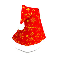 Pleuche плоская крышка шляпу Санта-Клауса, цвет случайных