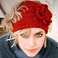 Feminino Vintage Fofo Festa Trabalho Casual Lã Algodão Inverno Gorro,Sólido Preto Vermelho Rosa claro