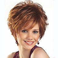 Synthetic Wig Wavy Style Capless Wig Brown Brown Synthetic Hair Women's Brown Wig Short Halloween Wig