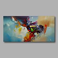 halpa -Maalattu Abstrakti Vaakasuora,Moderni 1 paneeli Hang-Painted öljymaalaus For Kodinsisustus