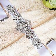 Χαμηλού Κόστους Κορδέλες-Σατέν Γάμου / Πάρτι / Βράδυ / Καθημερινή Ένδυση Ζώνη Με Τεχνητό διαμάντι / Χάντρες / Πέρλες Γυναικεία Ζώνες για Φορέματα
