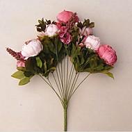 billige Kunstige blomster-Kunstige blomster 1 Gren Europeisk Stil Peoner Bordblomst