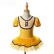 billige Udsalg-Ballet Kjoler Tutus Tutuer & Nederdele Træning Ydeevne Spandex Tyl Sløjfe(r) Kort Ærme Halloween Prinsesse Kjole