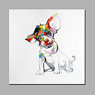 Single Modern Abstract Pure Hand Draw Frameless Decorative Painting Dog