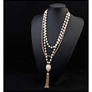 Dame Form Tassel Mode Perlehalskæde Erklæring Halskæder Perle Legering Perlehalskæde Erklæring Halskæder Fest Speciel Lejlighed