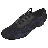 billige Moderne sko-Dame Latin Blonder Sateng Høye hæler Innendørs Ytelse Profesjonell Nybegynner Trening Tykk hæl Flerfarget Kan spesialtilpasses
