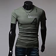 Majica s rukavima Muškarci Sport Print Slovo Pamuk