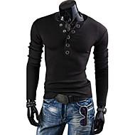 Veći konfekcijski brojevi Majica s rukavima Muškarci Dnevno / Sport / Vikend Pamuk Jednobojni Okrugli izrez Slim / Dugih rukava