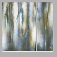 Pictat manual Abstract Vertical,Modern Trei Panouri Canava Hang-pictate pictură în ulei For Pagina de decorare