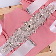 Χαμηλού Κόστους Κορδέλες-Σατέν Γάμου / Πάρτι / Βράδυ / Καθημερινή Ένδυση Ζώνη Με Τεχνητό διαμάντι / Χάντρες / Πέρλες Γυναικεία Ζώνες για Φορέματα / Πούλιες