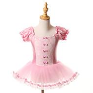 cheap Dancewear & Dance Shoes-Ballet Dresses Tutus Tutus & Skirts Children's Training Performance Spandex Tulle Bow(s) Short Sleeve Halloween Decorations Princess Dress