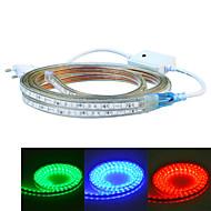 jiawen 400センチメートル防水24ワット240-5050smd 8モードのRGBは、フレキシブルライトストリップ(AC110〜220V)を導きました