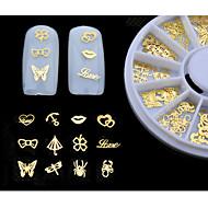 nový 3D gold metal nail art nálepky motýla výzdobě kolo rty výprava maličký plátek DIY nehtů příslušenství