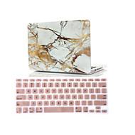 """2 em 1 mármore emborrachado tampa da caixa do disco + tampa do teclado para MacBook Air 11 """"retina 13"""" / 15 """""""