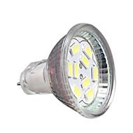 2W GU4(MR11) LED-spotpærer MR11 9 leds SMD 5730 Dekorativ Kjølig hvit 200-250lm 6000-6500K DC 12V