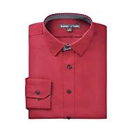 Klassisk krave Herre - Ensfarvet Skjorte