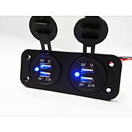 2 otvory panel duální USB nabíječka do auta zásuvka