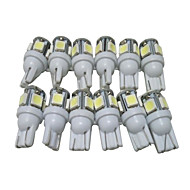 cheap Car Lights-12pcs T10 Car Light Bulbs 2.5W SMD 5050 90lm 5 LED Exterior Lights