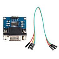 porta serial RS232 para comunicação módulo conversor TTL w / cabo DuPont para arduino