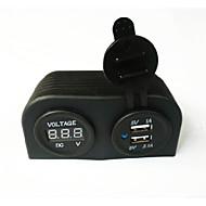 billiga Billaddare för mobilen-Bilar Billaddare 2 USB-portar for DC 5V
