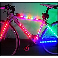 Pyöräilyvalot turvavalot pyörän valot LED - Pyöräily Helppo kantaa AAA Lumenia Patteri Pyöräily