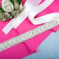 Χαμηλού Κόστους Κορδέλες-Σατέν Γάμου / Πάρτι / Βράδυ / Καθημερινή Ένδυση Ζώνη Με Τεχνητό διαμάντι / Χάντρες / Πέρλες Γυναικεία Ζώνες για Φορέματα / Πούλιες / Διακοσμητικά Επιράμματα