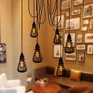 billige Takbelysning og vifter-COSMOSLIGHT Anheng Lys Omgivelseslys - LED, Tiffany Rustikk / Hytte Vintage Lanterne Land Traditionel / Klassisk Retro Rød Moderne /