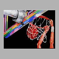 手描きの カジュアル 横長,Modern 1枚 キャンバス ハング塗装油絵 For ホームデコレーション