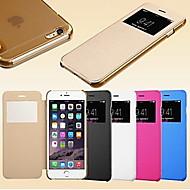 iPhone5の/ 5Sのためのスマートビュー画面タッチPUレザーケース