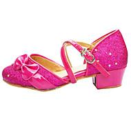 baratos Sapatilhas de Dança-Mulheres Sapatos de Dança Latina Glitter / Paetês Sandália Salto Baixo Não Personalizável Sapatos de Dança Prateado / Dourado / Fúcsia