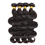 Echthaar Brasilianisches Haar Menschenhaar spinnt Große Wellen Haarverlängerungen 3 Stück Naturfarbe