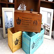 retro área de trabalho madeira velha caixa de armazenamento cosméticos caneta de madeira caixa de armazenamento remoto