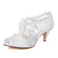 Sandaletler - Düğün / Elbise / Parti ve Gece - Burnu Açık - Beyaz - Kadın - Düğün Ayakkabı