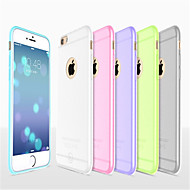 Til iPhone 8 iPhone 8 Plus iPhone 6 iPhone 6 Plus Etuier Ultratyndt Syrematteret Gennemsigtig Bagcover Etui Helfarve Blødt Silikone for