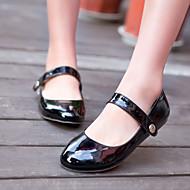 baratos Sapatos Femininos-Mulheres Courino Primavera / Verão Salto Baixo Vermelho / Verde / Amêndoa