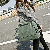 Women Bags PU Tote for Casual Winter Gray Fuchsia Green