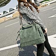 Women Bags PU Tote for Gray Fuchsia Green