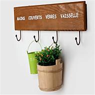 yksinkertainen puinen ovi ripustuskoukku retro pastoraalinen vaateripustin rivi koukku uusi