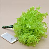 flores artificiais 1 piecehigh flores qualidade salsa grama flores de seda flores de seda para decoração de casa (verde)