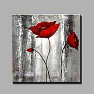 billiga Blom-/växtmålningar-Hang målad oljemålning HANDMÅLAD - Stilleben Moderna Duk