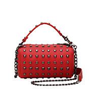 baratos Bolsas Tote-Mulheres Bolsas PU Tote / Bolsa de Ombro para Casual Roxo / Vermelho / Cor Ecrã