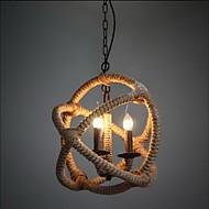 Retro 3 Lampe hamp rep lysekrone Retro landlig stil