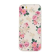 billiga Mobil cases & Skärmskydd-fodral Till iPhone 5 Apple iPhone 5-fodral Mönster Skal Blomma Mjukt TPU för iPhone SE/5s iPhone 5