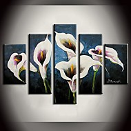 Hand-Painted Abstract Landscape Still Life Floral/Botanical Any Shape,Modern Five Panels Canvas Oil Painting For Home Decoration