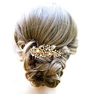 cheap Wedding Headpieces-Alloy Hair Combs Headwear with Floral 1pc Wedding Special Occasion Headpiece